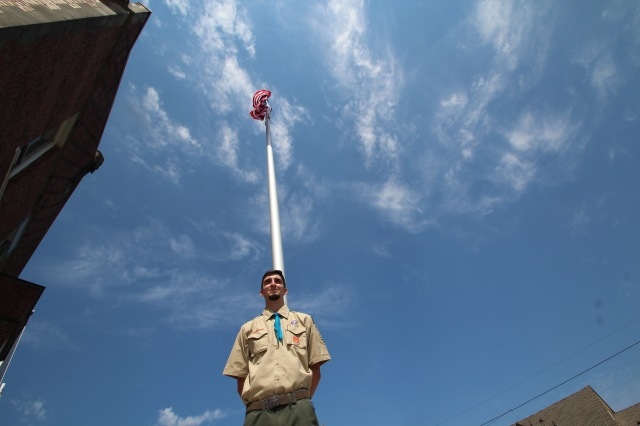flag dedication for eagle scout project